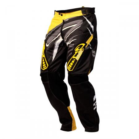 PANTALON CROSS INSANE 3 NEGRO-AMARILLO