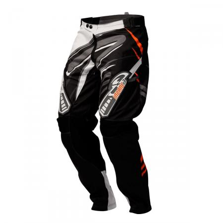 PANTALON CROSS INSANE 3 NEGRO-NARANJA