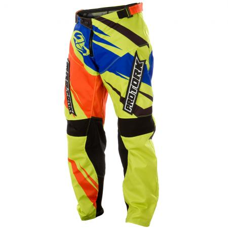 PANTALON CROSS INSANE 4 AMARILLO-NARANJA