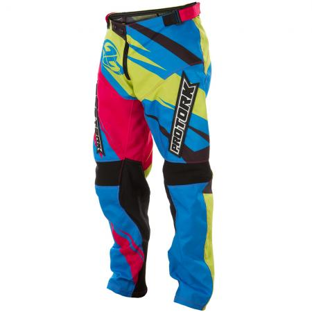 PANTALON CROSS INSANE 4 AZUL-AMARILLO-ROSA