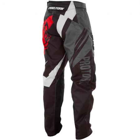 PANTALON CROSS INSANE 4 GRIS-ROJO (2)