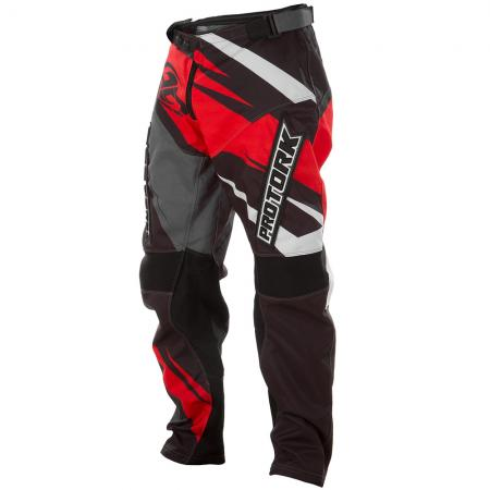 PANTALON CROSS INSANE 4 GRIS-ROJO